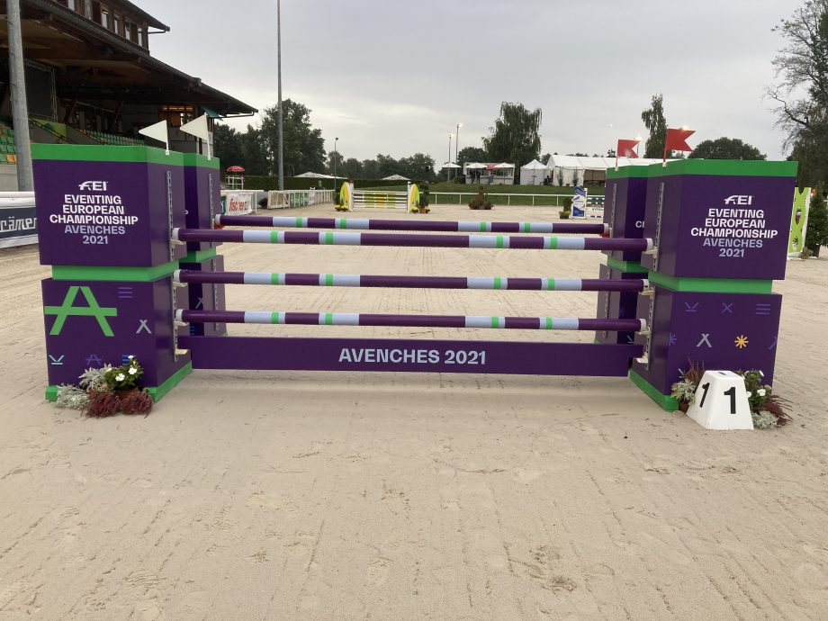 European Eventing Championships showjumping course