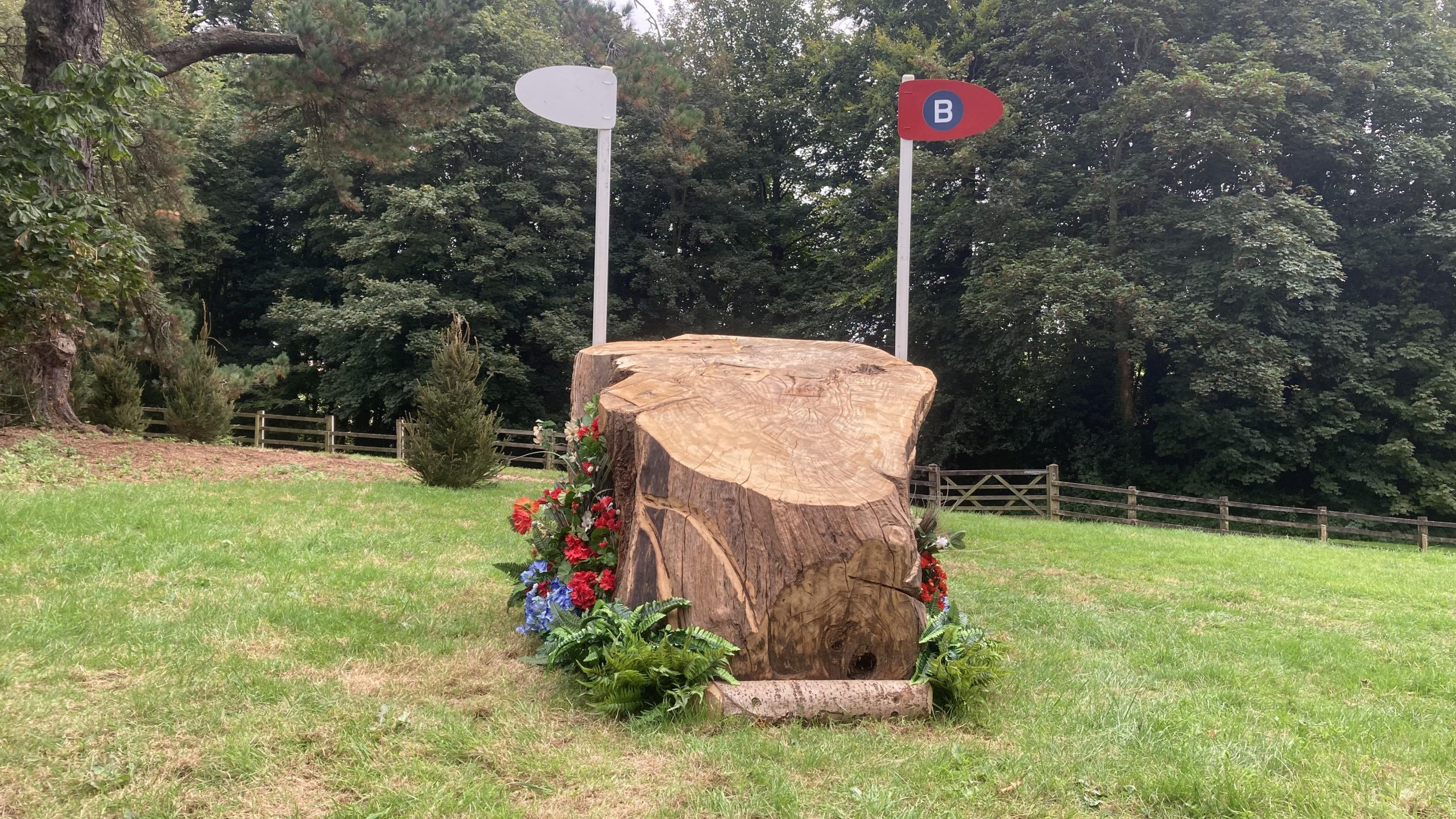 Bicton Horse Trials cross-country course: five-star fence 21b