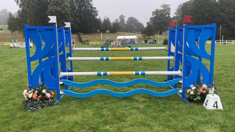 Bicton Horse Trials showjumping course: fence 4