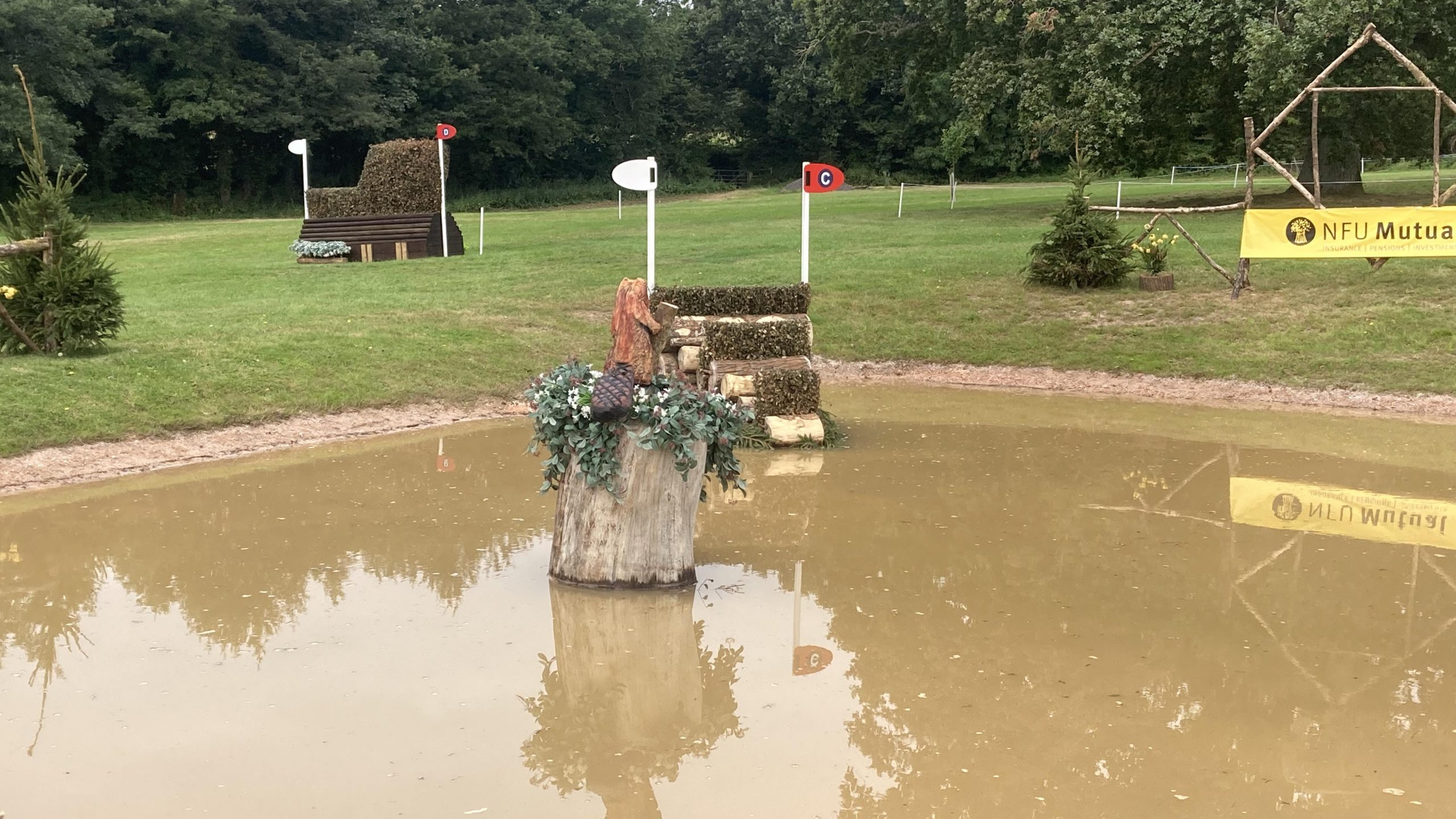 Bicton Horse Trials cross-country course: five-star fence 22c