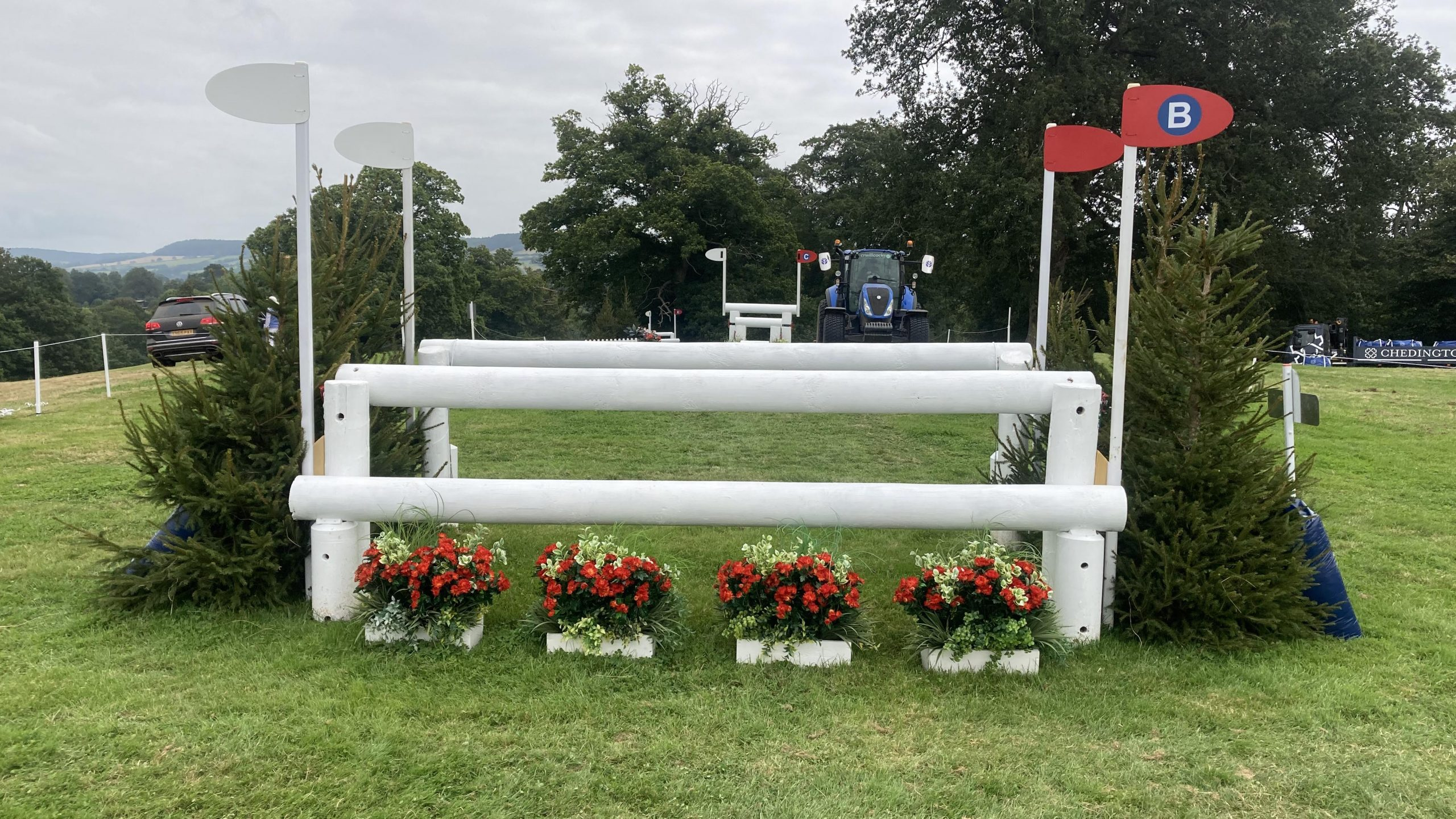 Bicton Horse Trials cross-country course: five-star fence 6b