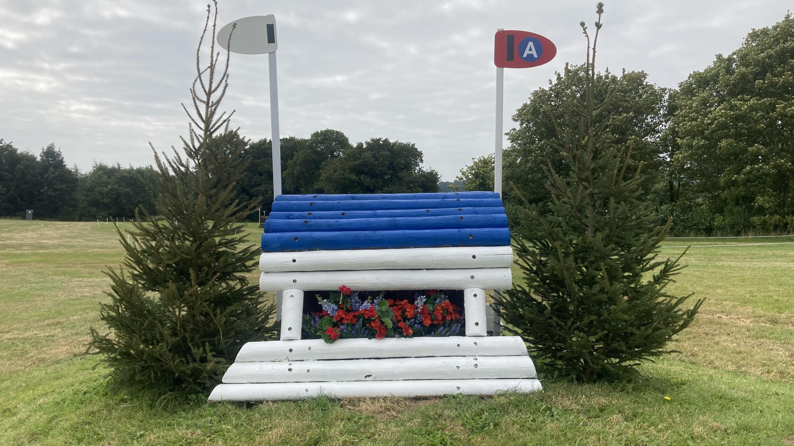 Bicton Horse Trials cross-country course: five-star fence 23a