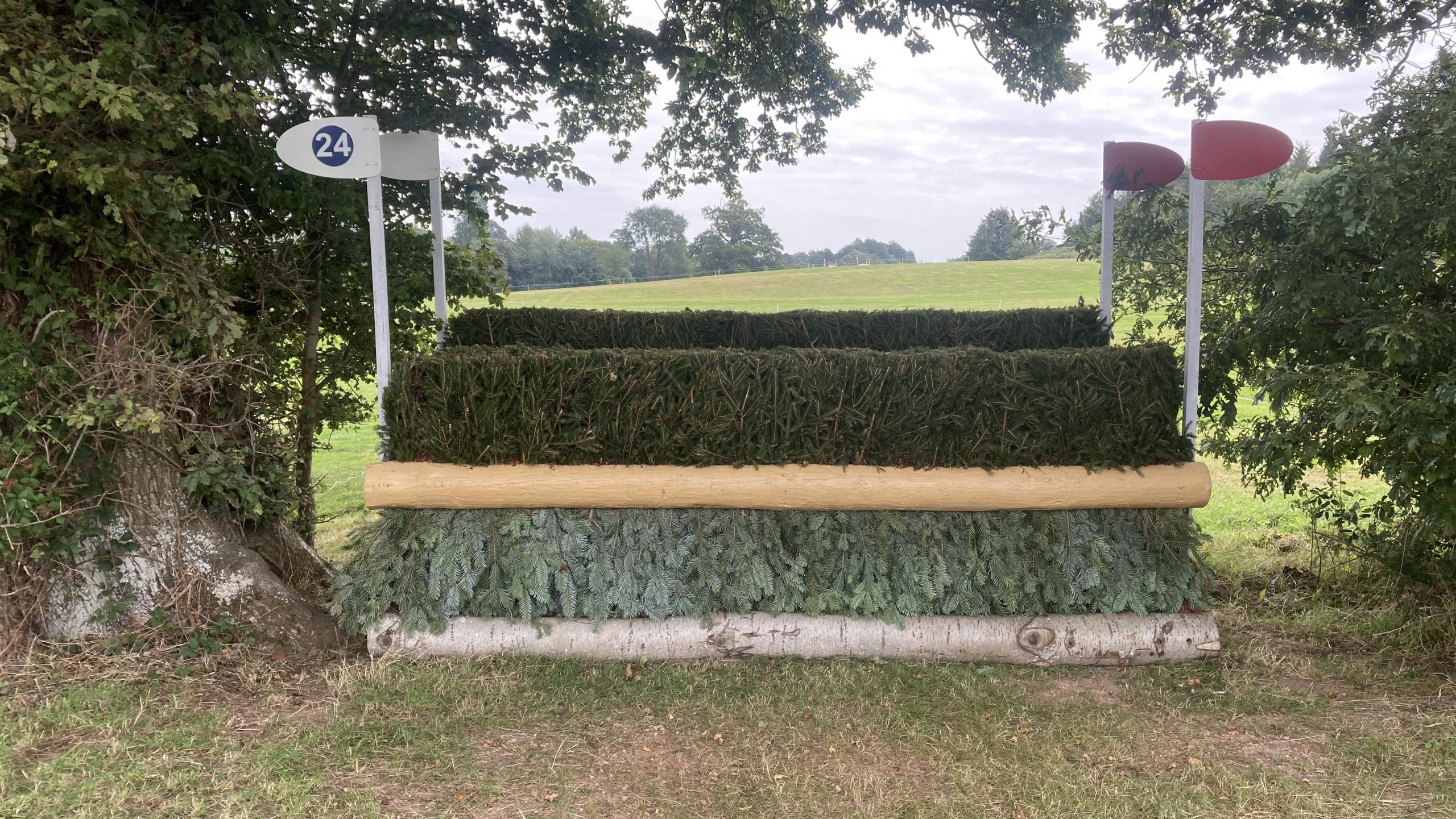 Bicton Horse Trials cross-country course: five-star fence 24