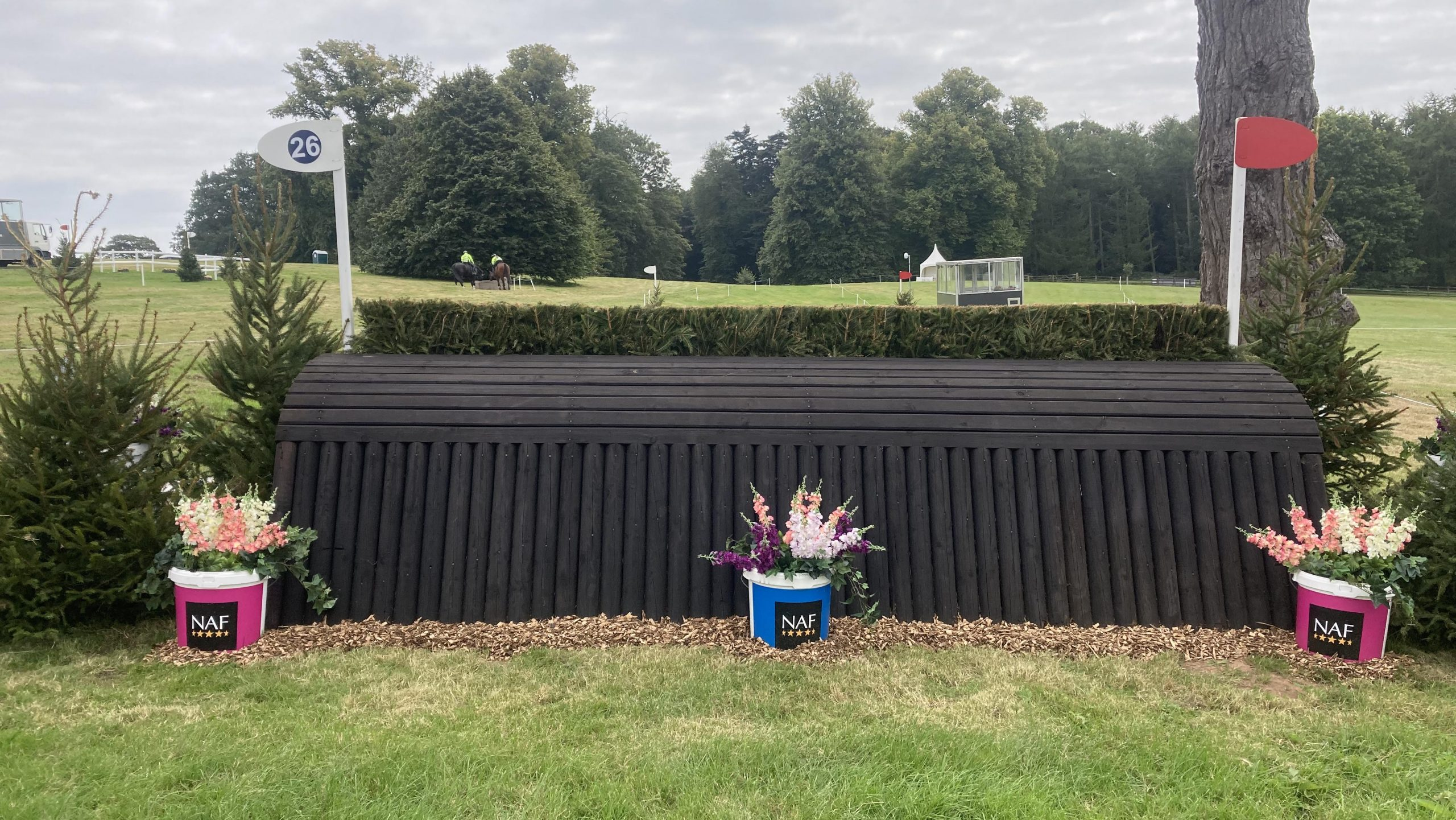 Bicton Horse Trials cross-country course: five-star fence 26