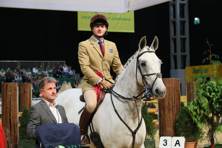Silver Lough and William Pittendrigh win the intermediate working hunter final at HOYS