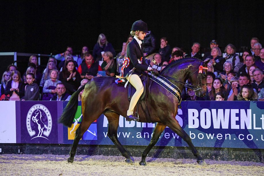 Ellie Harrington and Roseberry Final Edition are pony supremes at HOYS 2021