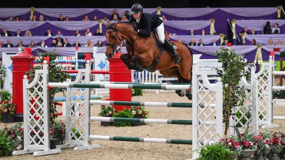 Harry Charles and Stardust win the HOYS grand prix