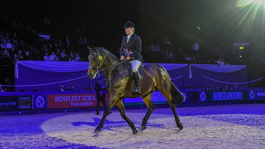 Louvaine Rooney and Megan Cookson take the Hamilton Tarmac Small Show Hunter of the Year title at HOYS 2021