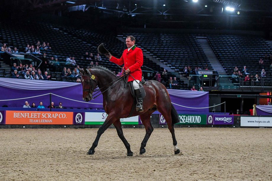 Robert Walker and View Point win the lightweight hunter of the year final at HOYS
