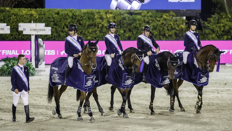 Great Britain's showjumping team wins the Challenge Cup at Nations Cup Final in Barcelona, Spain