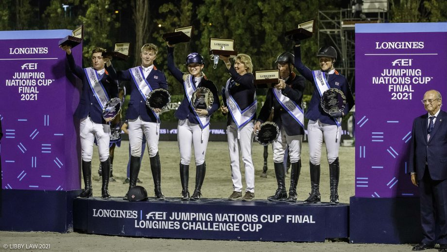 Great Britain lifts the Challenge Cup at the Nations Cup Final in Barcelona, Spain