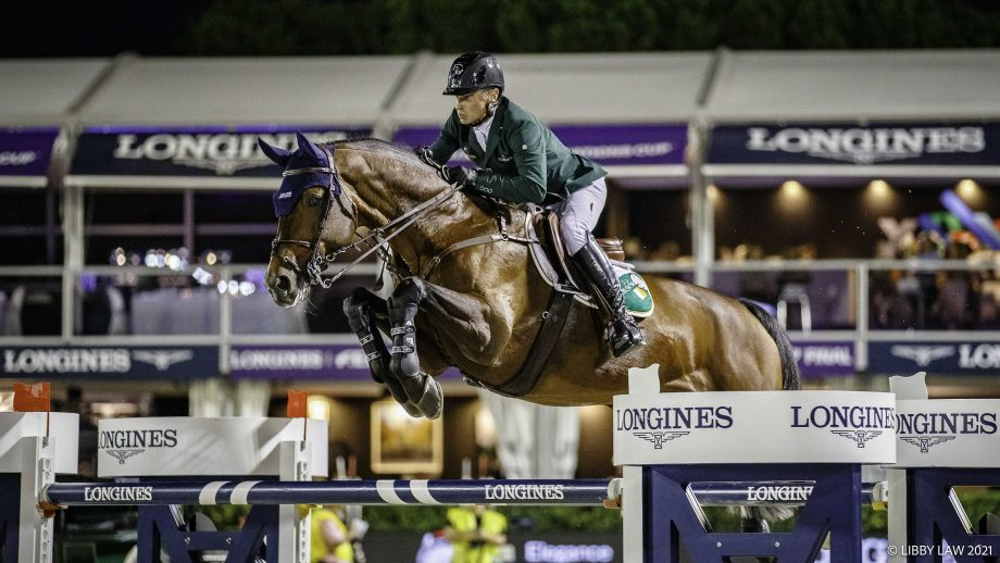 Denis Lynch on Cristello in Nations Cup Final