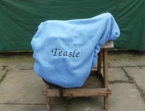 Personalised fleece saddle cover