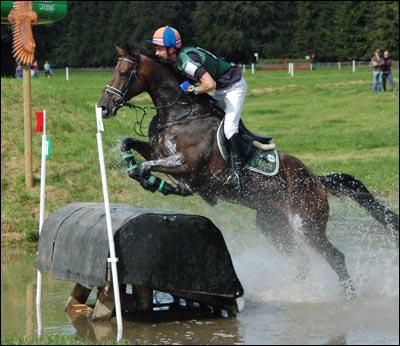 Dutch rider Huub van der Mark  riding Exquis Idem Du Roc