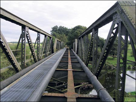 The bridge would be used to give local riders a safer crossing of the River Swale
