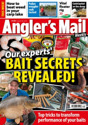 Be sure to read Angler's Mail magazine this week and every week for carp fishing advice, top tackle, news, venues... and lots, lots more. Only £1.80, on sale every Tuesday.