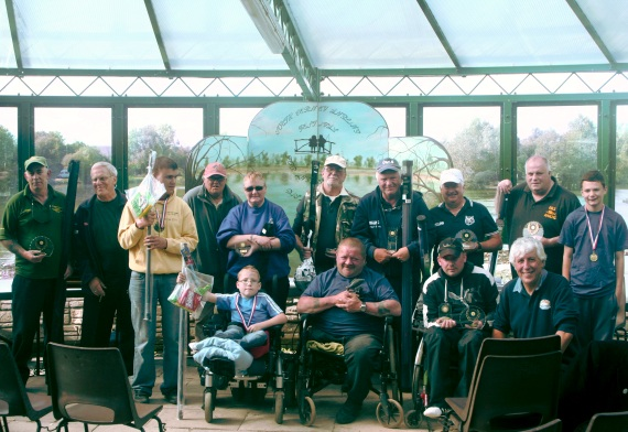 The South Cerney Angling Club organised a fantastic event for disabled anglers in Gloucestershire. Here are some of the winners with Angling Trust coach, Martin Salter.