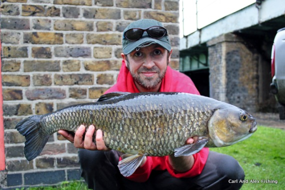 Angler's Mail sub-editor Ben Hervey-Murray with his prized chub.