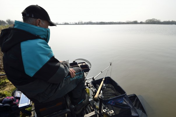 As Ivan would have done it, Alan Scotthorne waits for the bream bite to develop.