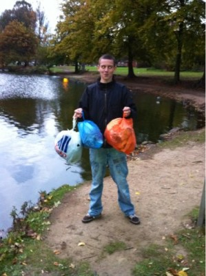 Mail reader Connor Tierney picks up litter from his local lake - do you bag up what you see, even if it's not yours?