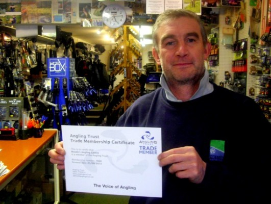 """Paul """"Woody"""" Woodward at Woody's Angling Centre"""