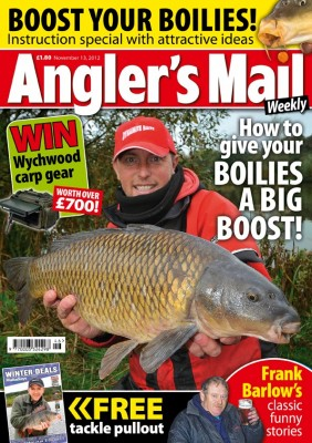 Frank Barlow is BACK! Check out some great stories from the soon to be published 'Best of Barlow' in this week's Angler's Mail!  BOOST your baits!  Quick and easy way to get the best out of your boilies in cold conditions!  MONSTER! MONSTER!  Jeremy Wade joins the Mail's Gary Newman for a predator session.  WHAT a haul! One of the biggest barbel hits ever!