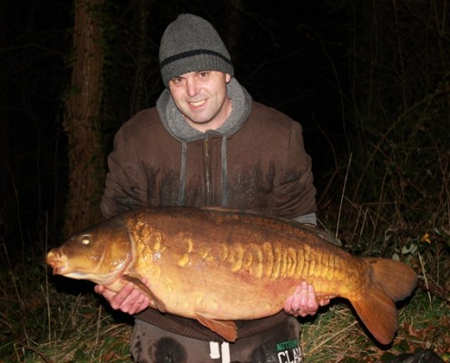Paul Amos with the Big Lin at 45lb