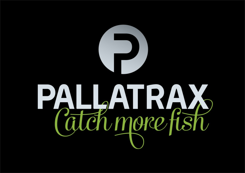 Pallatrax Catch more fish - Logo on black