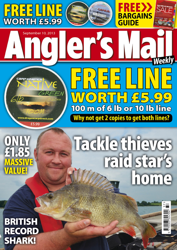 FREE LINE (6 lb or 10 lb) on the cover this week - be sure to get your copy (or two) of the Angler's Mail magazine print issue!