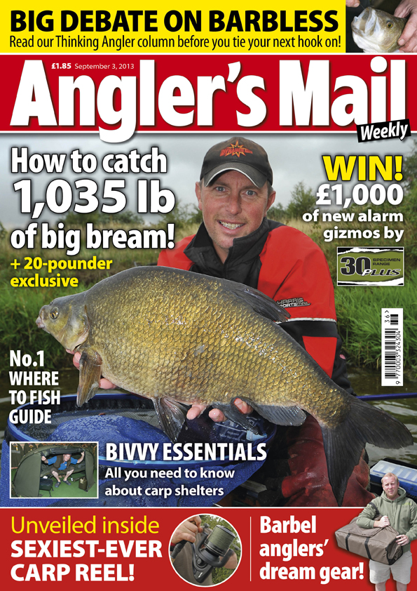 "Bream hauling on match gear, full report on what Dick Clegg called ""one of the best results ever"" and loads more can be enjoyed by getting the new AM magazine, in good shops from Tuesday, September 3."