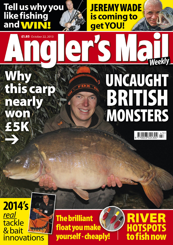 Be sure to get this week's brilliant new issue of Angler's Mail magazine! It's in shops from Tuesday, October 22.
