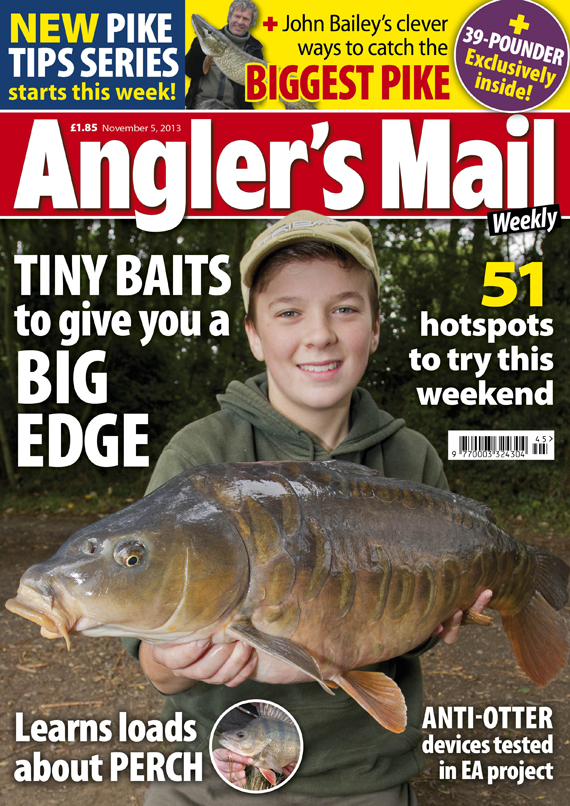 Be sure to get this week's brilliant new issue of Angler's Mail magazine! It's in shops from Tuesday, November 5.