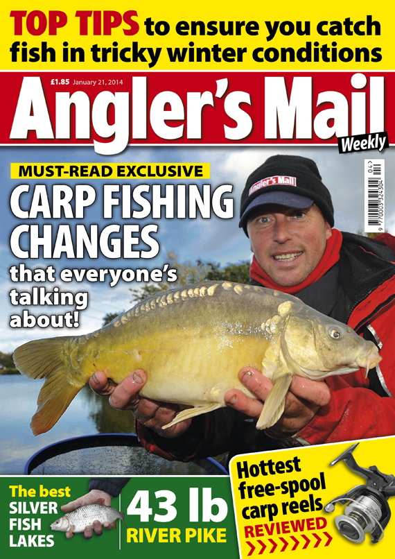 Pick up your copy of the biggest read in fishing this week. This latest copy of Angler's Mail magazine is in stockists from Tuesday, January 21.