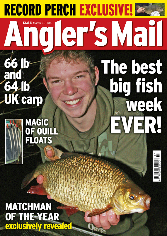 Full coverage of the match scene, plus amazing end of season catches are in this week's Angler's Mail magazine - in shops from Tuesday, March 18.