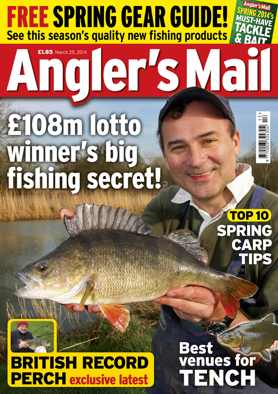 Be sure to get this week's Angler's Mail magazine.... with a FREE spring 2014 gear guide, big stories, tips and hotspots (this week with a special look at tench).