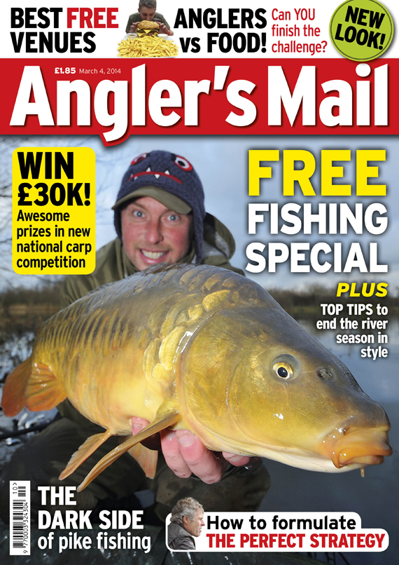 Be sure to read this week's Angler's Mail - in shops from March 4.