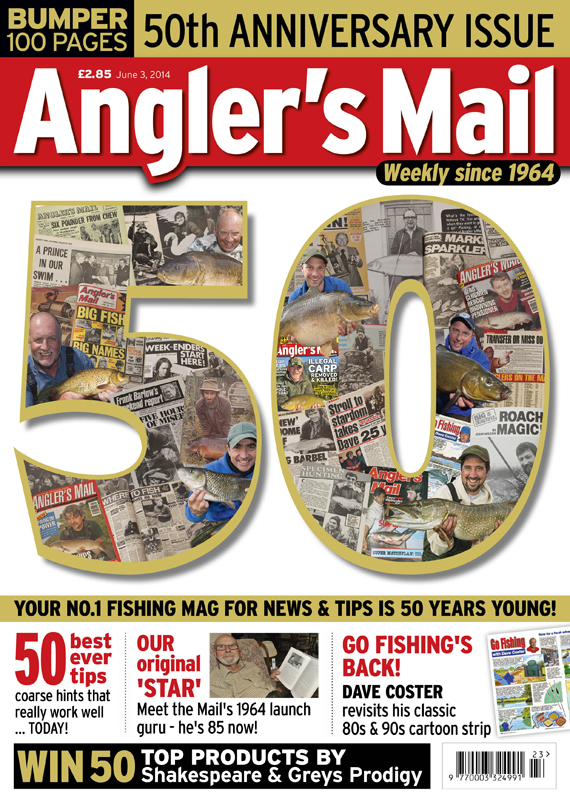 Do not miss the 50th anniversary issue of Angler's Mail celebrating 50 years of your No.1 weekly. Includes 50 greatest tips, an exclusive new episode of Go Fishing with Dave Coster and lots more! Plus an amazing week for catches, covered in the must-read news section.