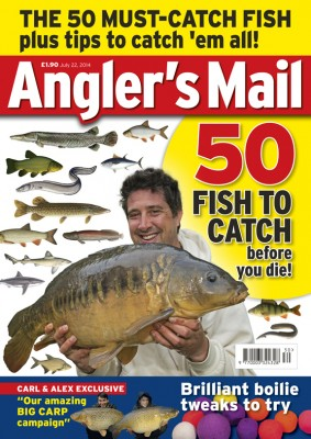 Carl and Alex's full account of their amazing carp fishing success is in Angler's Mail - the magazine where you'll find a weekly tip every week from the lads.