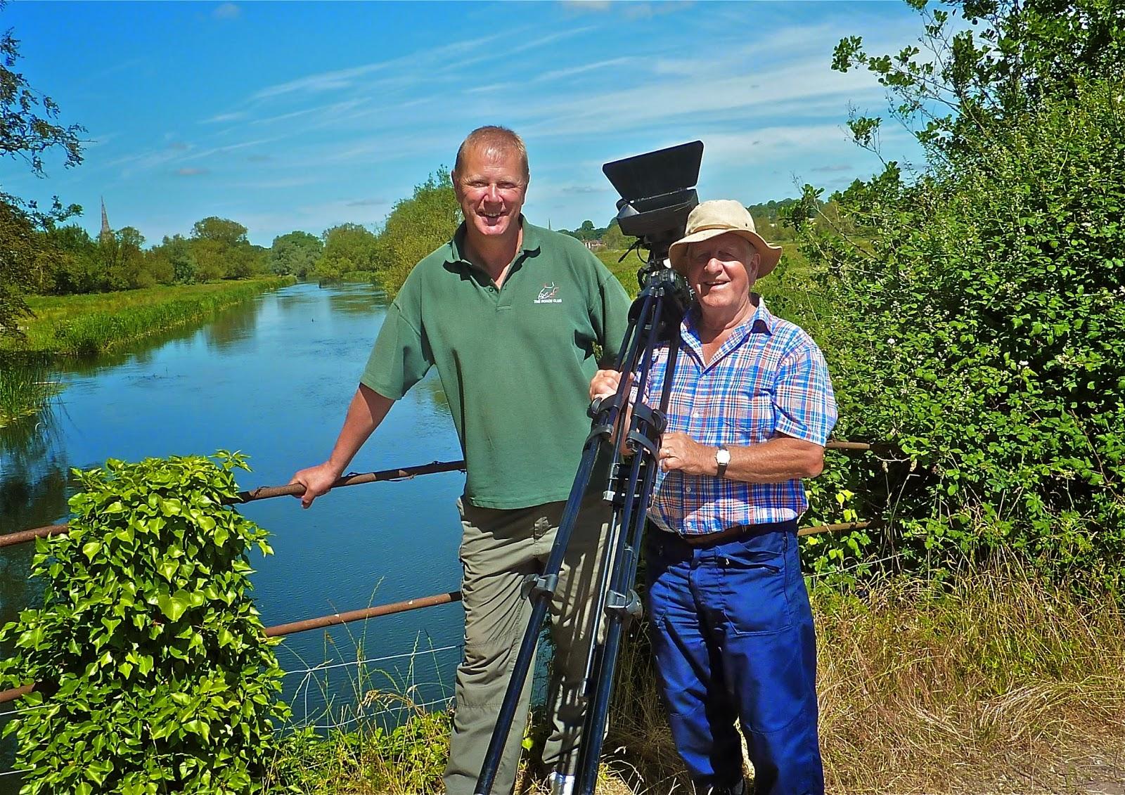 Trevor Price (left) with film-maker Hugh Miles, who made this Cormorants vs Roach video.