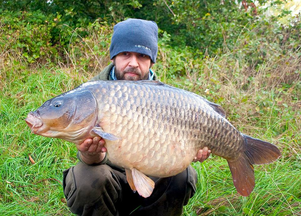 These autumn fishing tips were compiled by Ben Hervey-Murray, seen here with a big autumnal river carp.