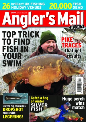 Catch more fish now and find the perfect fishing holiday with this week's Angler's Mail on sale now.