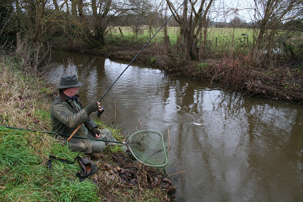 Stealth is vital when float fishing. Position yourself upstream and trot the float down to the roach.