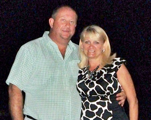The couple in happier times. Paul Abbott now faces a very long stretch in prison.