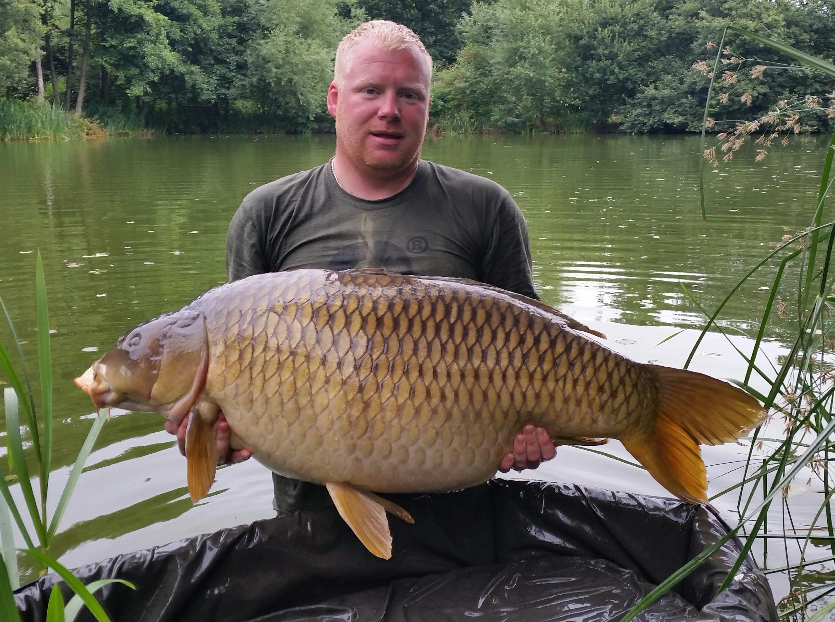 Biggest common carp in UK