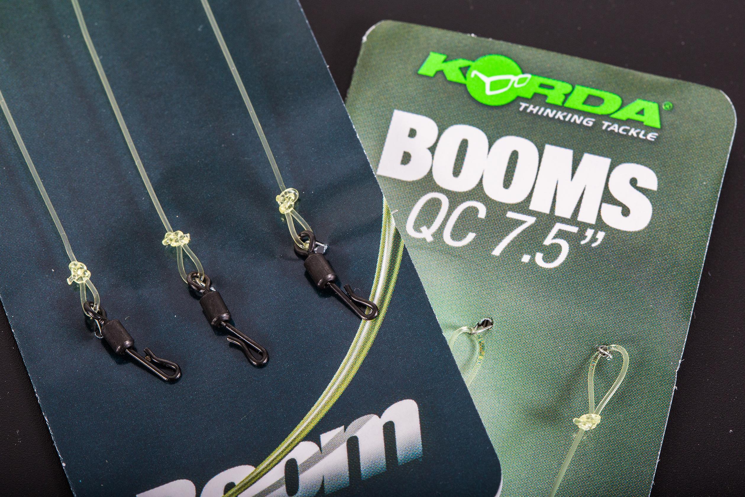 """KORDA QC BOOMS 3 PER PACK 25LB 5.5/"""" OR 7.5/"""" CARP FISHING TACKLE"""