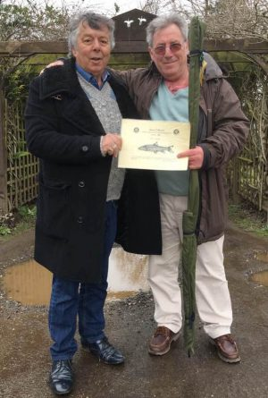 Orchid Lakes chief Marsh Pratley, pictured with Steve Pope of the Barbel Society.