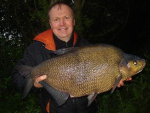 James Crameri displays his latest huge bream.