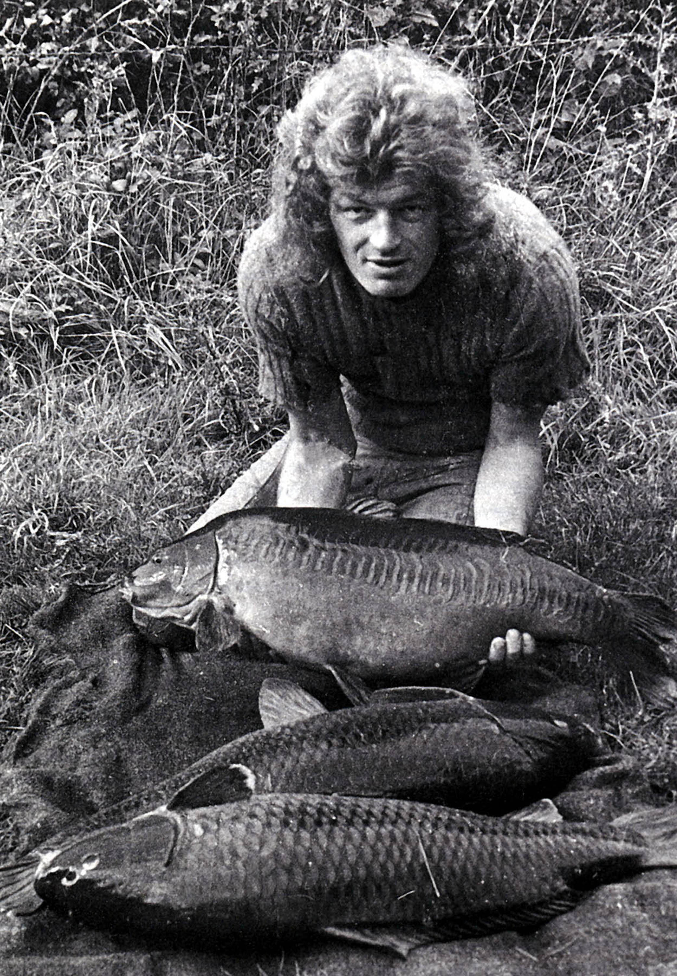 Rod Hutchinson with a big catch from Redmire .