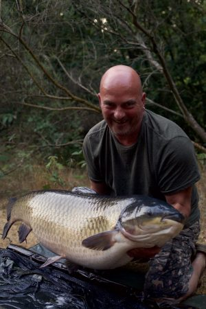 David Beagley supports the giant grass carp.