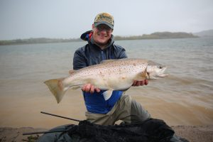 Will Millard displays his stunning big brown trout.